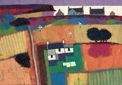 Extended Croft House by David Body -  sized 23x17 inches. Available from Whitewall Galleries
